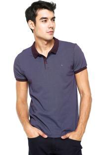 Camisa Polo Aramis Slim Fit Roxa/Azul
