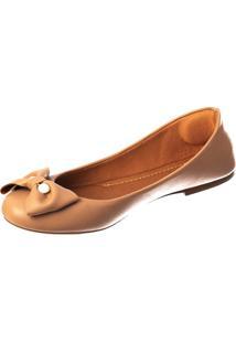 Sapatilha Butique De Sapatos Pele Laço Pérola