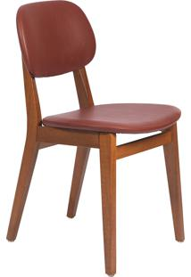 Cadeira London Tramontina 14060136 Amêndoa Estofado Vinho