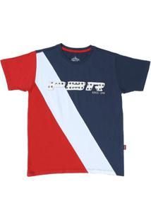 Camiseta Básica Pbr 20208 Masculina - Masculino-Azul+Vermelho