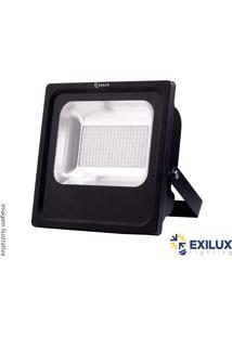 Refletor De Led Em Alumínio 100W Ip65 7000 Lúmens 3000K Cor De Luz: Amarela - Exilux