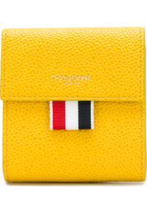 Thom Browne Porta Moedas De Couro - Amarelo