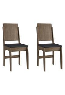 Cadeiras Mdf Ameixa Negra Com O Assento Preto Lilies Móveis