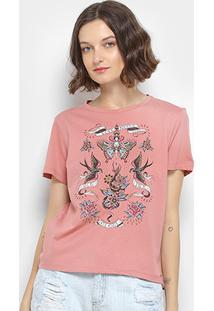 Camiseta Estampada Colcci Manga Curta Feminina - Feminino