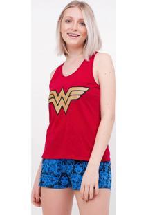 Pijama Com Estampa Mulher Maravilha