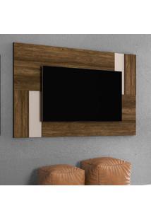Painel Extensível Para Tv Até 55 Polegadas Delfos Canela E Off White