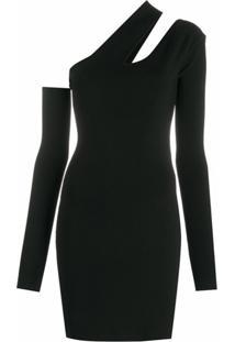 Nanushka Vestido Slim Assimétrico - Preto