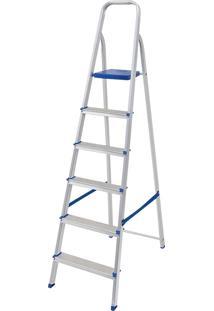 Escada De Alumínio 6 Degraus Mor - Multistock