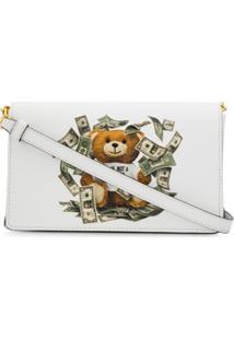 Moschino Cash Teddy Shoulder Bag - Branco