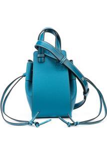 Loewe Bolsa Hammock Mini Com Ajuste De Cordão - Azul
