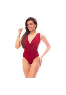 Body Moda Vicio Regata Torcido Na Frente Vermelho