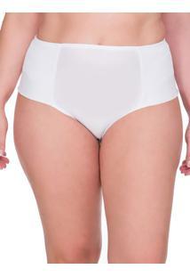 Calcinha Lateral Dupla Renda Plus Size - Branco - 3Xl