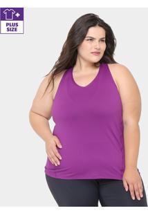Regata Plus Size Gonew Feminina - Feminino-Roxo