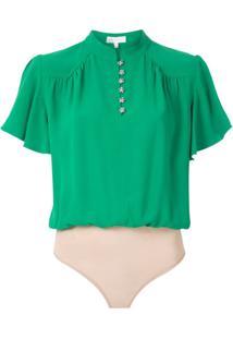 Nk Body Element Greta Em Crepe - Verde