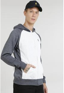 Blusão Masculino Raglan Em Moletom Com Capuz Off White