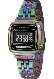 f394f3dc5e9 Zattini. Relógio Azul Verde Rosa Feminino Lince Tamanho Grande Digital ...