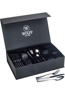 Faqueiro Inox C/Gift Box Oxford Wolff - 48 Peças