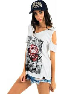 Camiseta Aes 1975 Flowers And Roses Feminina - Feminino