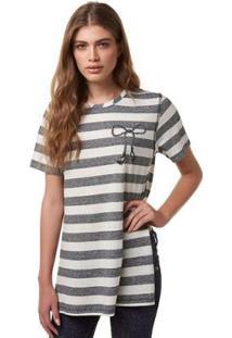 Blusa Vestido Estampado Hering - À La Garçonne - Feminino-Cinza