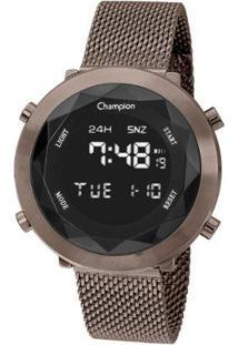 Relógio Champion Feminino Digital Ch48028R - Feminino-Marrom