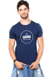 Camiseta Rgx Rumo, Direção, Sentido Azul