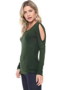 Blusa Cativa Recortes Verde