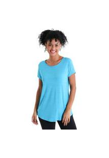 Camiseta Feminina Levíssima Energy - Azul Turquesa - Líquido