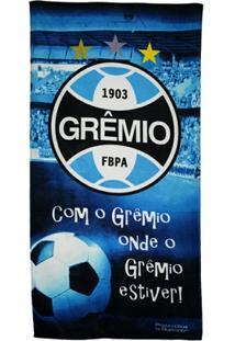 Toalha De Banho Bouton Veludo Grêmio - Unissex