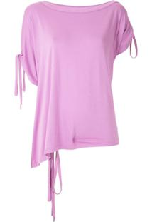 Tufi Duek Blusa Com Amarração - Rosa