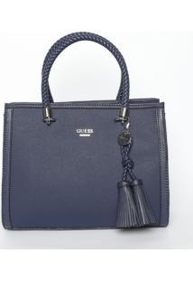 Bolsa Com Barbicachos - Azul Marinho - 25X31X14Cmguess