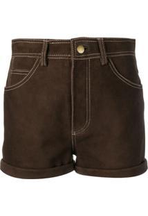 Philosophy Di Lorenzo Serafini High Waisted Shorts - Marrom