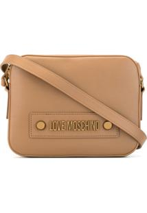 Love Moschino Bolsa Transversal Grande - Marrom