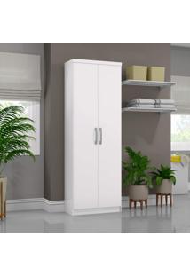 Armário Multiuso 2 Portas 6 Prateleiras Happy Siena Móveis Branco