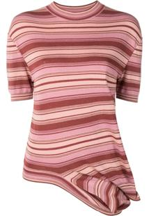 Marni Blusa De Tricô Listrada - Rosa