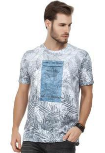 Camiseta Folhagens Branco