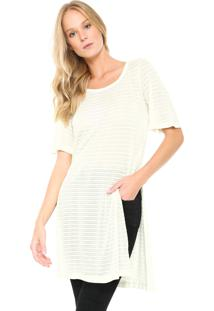 Maxi Camiseta Cantão Fendas Off-White