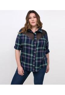 990d46d5bf Camisa Plus Size Tricoline feminina