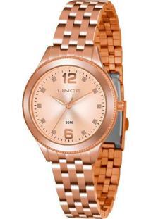 Kit Relógio Feminino Lince Lrmh120L-Kx10S2Sx Analógico 3Atm + Brinde
