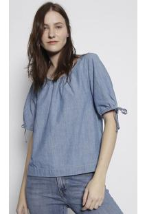 Blusa Ampla Jeans - Azullevis
