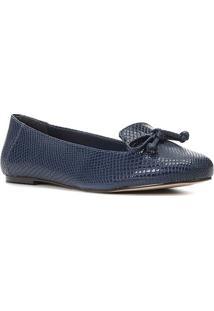 Sapatilha Shoestock Cobra Loafer Feminina - Feminino-Marinho
