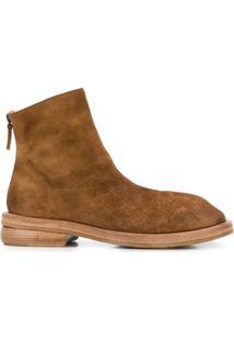 Marsèll Ankle Boot Com Salto Bloco De Camurça - Marrom