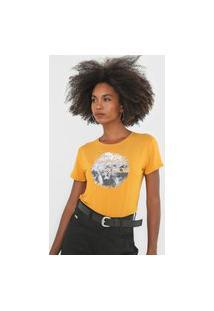 Camiseta Habana Estampada Amarela