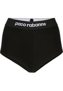Paco Rabanne Calcinha Cintura Alta - Preto