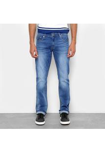 Calça Jeans Reta Lacoste Straight Fit Stone Masculina - Masculino-Azul Claro