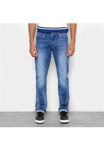 Calça Jeans Slim Lacoste Straight Fit Stone Masculina - Masculino-Azul Claro