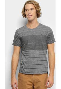 Camiseta All Free Listrada Masculina - Masculino-Mescla Escuro