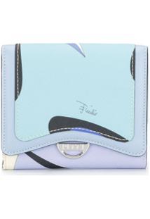 Emilio Pucci Carteira Mini Com Estampa Alex - Azul
