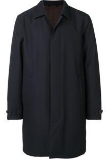 Z Zegna Trench Coat Com Botões - Azul
