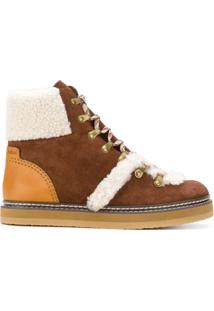 See By Chloé Ankle Boot De Camurça - Brown