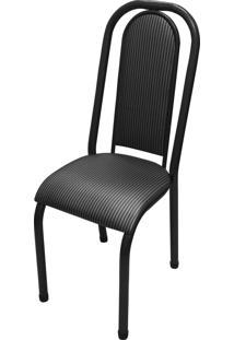 Cadeira Roma Almofadada Craqueado/Tick Listras Açomix
